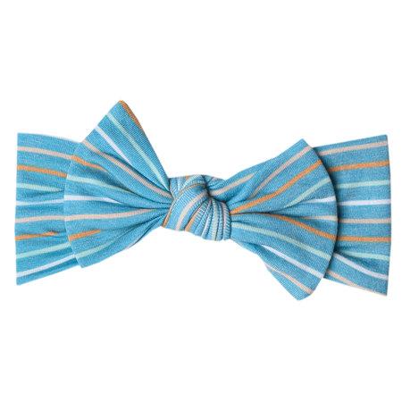 Copper Pearl Knit Headband Bow- Milo