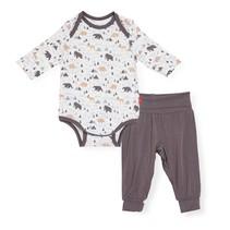Modal Magnetic Bodysuit + Pant Set- Tiny Tundra
