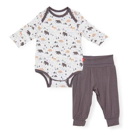 Magnetic Me Modal Magnetic Bodysuit + Pant Set- Tiny Tundra