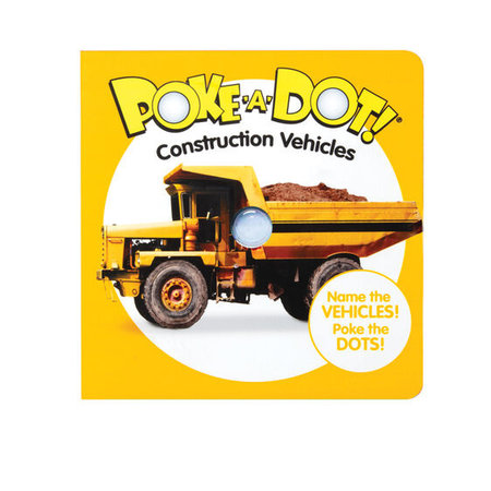 Melissa & Doug Small Poke-A-Dot Construction Vehicles Book