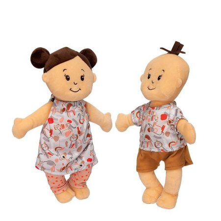 The Manhattan Toy Co Wee Baby Stella Twins Peach