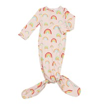 Pink Rainbows Knotted Gown 0-3m