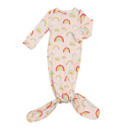 Angel Dear Pink Rainbows Knotted Gown 0-3m