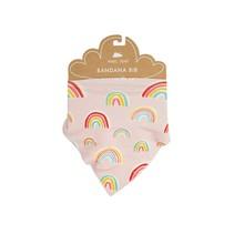 Pink Rainbows Bandana Bib