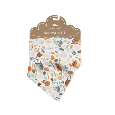 Angel Dear Autumn Owls Bandana Bib