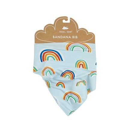 Angel Dear Blue Rainbows Bandana Bib