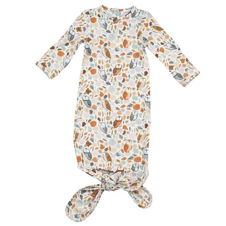 Angel Dear Autumn Owls Knotted Gown 0-3m