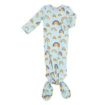 Blue Rainbows Knotted Gown 0-3m