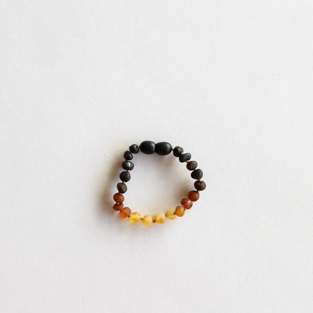 Canyon Leaf Raw Ombre Amber Bracelet 5""