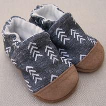 Organic Cotton Slippers Modern Charcoal