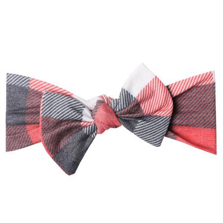 Copper Pearl Knit Headband Bow- Jack