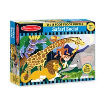 Safari Social Floor Puzzle (24pc)