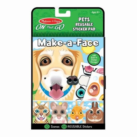 Melissa & Doug Make-a-Face Reusable Sticker Pad- Pets