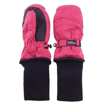 Snowstopper Extended Cuff Mittens: Fuchsia