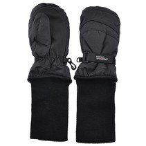 Snowstopper Extended Cuff Mittens: Black