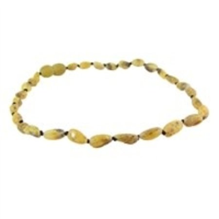 "The Amber Monkey Pear Baltic Amber Teething Necklace (10-11"")"