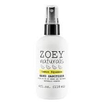 Zoey Naturals Lemon Squeeze Hand Sanitizer 4oz