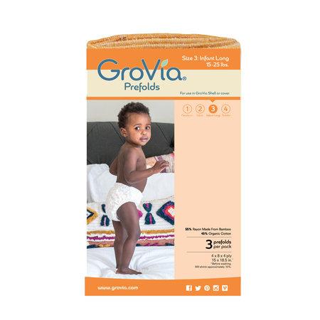 GroVia GroVia Prefold Cloth Diaper- Size 3 (3pk)
