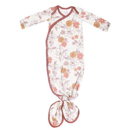Copper Pearl Newborn Knotted Gown Ferra
