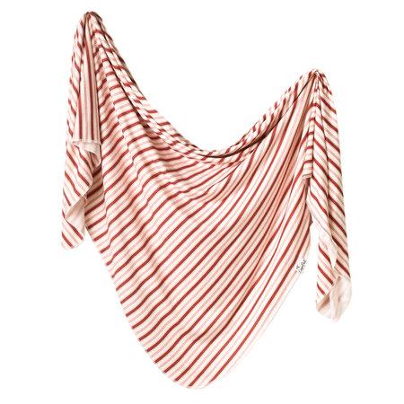 Copper Pearl Swaddle Blanket- Cinnamon