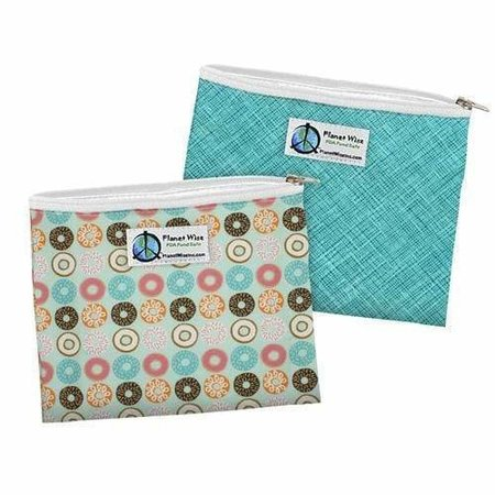 Planetwise Sandwich Bags- Zipper (2 Pack) Donut Delight/Drip Drop