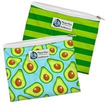 Sandwich Bags- Zipper (2 Pack) Aqua Avocado/Limelight Poly