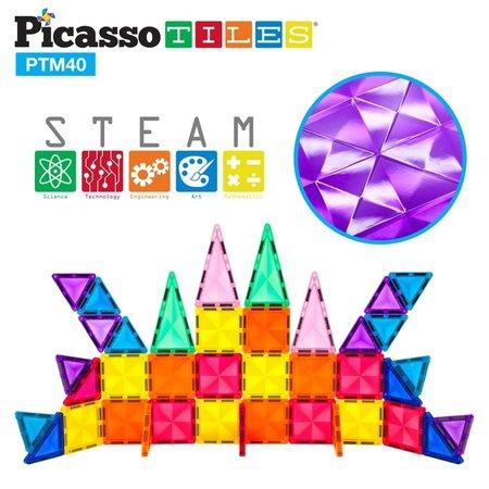 Picasso Tiles Mini Diamond 40pc Building Block Tiles