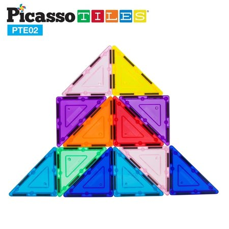 Picasso Tiles 3D Magnet Building Blocks- 12pc Right Triangle