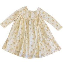Long Sleeve Rylie Dress- Ivory Dandelion