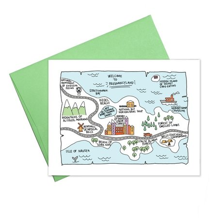 Colette Paperie Pregnancyland Greeting Card