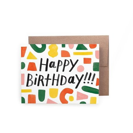 Happy Birthday Shapes Card