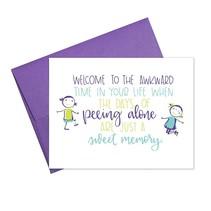 Pee Alone Greeting Card