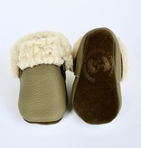 MishMoccs Sheep Shearlings Olive Moccs