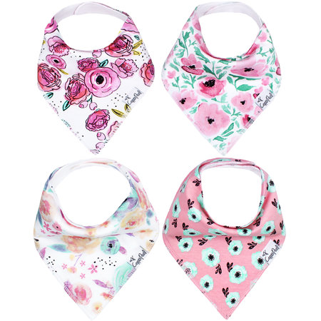 Copper Pearl Baby Bandana Bib Bloom 4pk