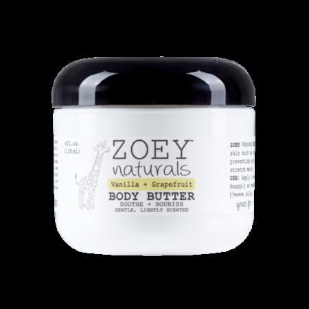 Zoey Naturals Vanilla Grapefruit Body Butter 4oz