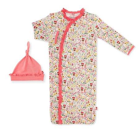 Magnetic Me Gnome Sweet Gnome Modal Magnetic Gown & Hat Set (0-3m)