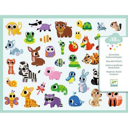 Djeco Baby Animals Big Stickers