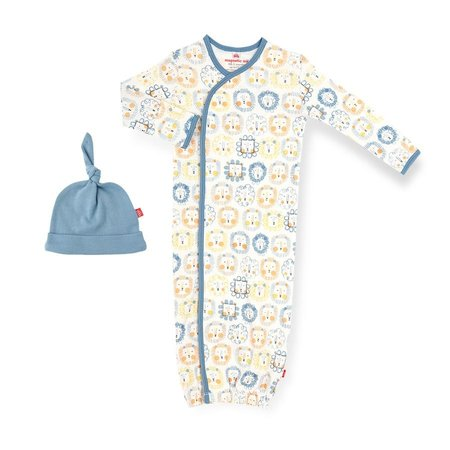 Magnetic Me Mane Event Organic Cotton Magnetic Gown & Hat Set (0-3m)