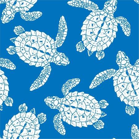 Luv Bug Co. Hooded UPF 50+ Sunscreen Towel  Sea Turtle