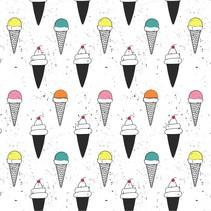 Hooded UPF 50+ Sunscreen Towel  Ice Cream