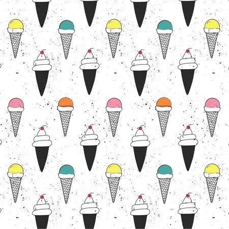Luv Bug Co. Hooded UPF 50+ Sunscreen Towel  Ice Cream