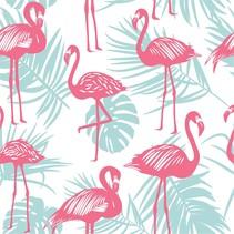 Full Size UPF 50+ Sunscreen Towel Flamingo Palm