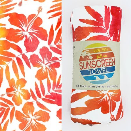 Luv Bug Co. Full Size UPF 50+ Sunscreen Towel Tropical Breeze