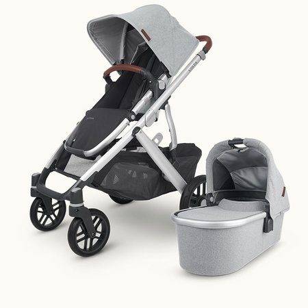 UPPAbaby UPPAbaby VISTA V2 Stroller - STELLA (Grey brushed mélange/silver frame/ chestnut leather )