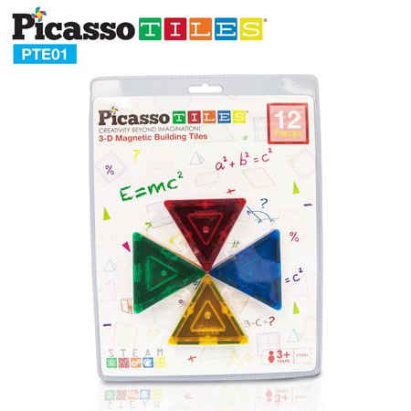 Picasso Tiles 3D Magnetic Building  Blocks- Small Triangles