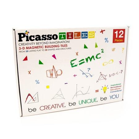 Picasso Tiles 12 Piece Magnetic Building Block Set