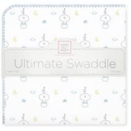 Swaddle Designs Ultimate Swaddle Blanket Spaceman Pastel Blue