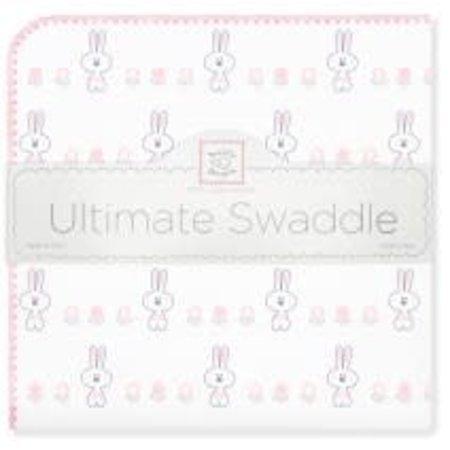Swaddle Designs Ultimate Swaddle Blanket Garden Bunny Pastel Pink