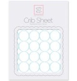 Swaddle Designs Cotton Flannel Crib Sheet Mod Circles on White