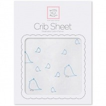 Cotton Flannel Crib Sheet Mamma and Baby Chickies